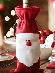baratos -Sacos e Transportadores de Vinho Natal / Férias Poliéster Cubo Festa / Novidades Decoração de Natal