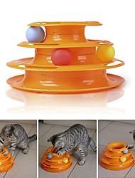 Недорогие -Интерактивный Игрушки Таблички Подходит для домашних животных Портативные Многослойный пластик Назначение Коты