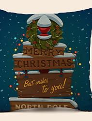 Недорогие -Наволочка Праздник Полиэстер Прямоугольный Для вечеринок / Оригинальные Рождественские украшения
