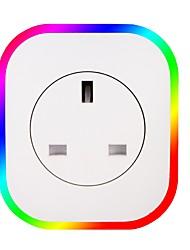Недорогие -1шт Светодиодные фары LED Night Light / Детский ночной свет / Умный ночной свет RGB + белый От электросети С портом USB / Управление голосом / Атмосферная лампа