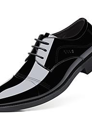 abordables -Homme Chaussures Formal Cuir Verni Automne Oxfords Noir
