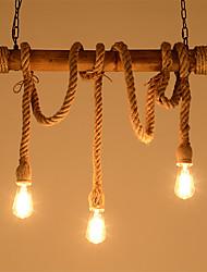 cheap -3-Light Industrial Chandelier Ambient Light 110-120V / 220-240V Bulb Not Included