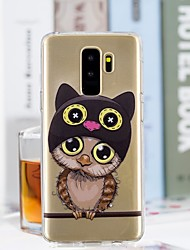 baratos -Capinha Para Samsung Galaxy S9 Plus / S9 Transparente / Estampada Capa traseira Corujas Macia TPU para S9 / S9 Plus / S8 Plus
