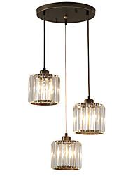 Недорогие -3-Light Кристаллы Подвесные лампы Рассеянное освещение Электропокрытие Окрашенные отделки Металл Хрусталь, Мини 110-120Вольт / 220-240Вольт Лампочки не включены / FCC