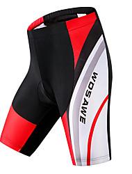 preiswerte -WOSAWE Herrn Gepolsterte Fahrradshorts Fahhrad Gepolsterte Shorts / Unten Klassisch Polyester, Elasthan Schwarz-rot Fahrradbekleidung