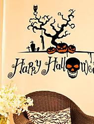 Недорогие -Декоративные наклейки на стены - Праздник стены стикеры / Люди стены стикеры Halloween / Праздник Столовая / В помещении