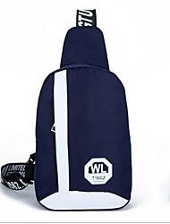 Недорогие -Жен. Мешки холст Слинг сумки на ремне Узоры / принт Буквы Темно-синий / Лиловый / Пурпурный