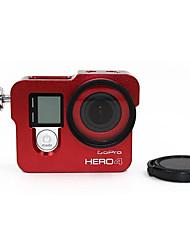 Недорогие -защитный футляр Защита от удара Для Экшн камера Gopro 4 / Gopro 3 / Gopro 2 Путешествия / Фигурное катание / Альпинизм Алюминиевый сплав - 1 pcs