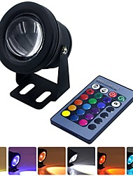 abordables -YWXLIGHT® 1pc 10 W Lumière Sous-marine Imperméable / Télécommandé RVB 12 V Piscine / Convient pour Vases et Aquariums 1 Perles LED