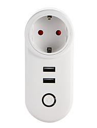 Недорогие -weto w-t04 eu wifi smart plug для интеллектуального домашнего пульта дистанционного управления работает с alexa google home timer socket для ios android