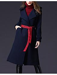 olcso -Alkalmi / Munka Női Kabát - Egyszínű