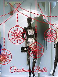 abordables -Film de fenêtre et autocollants Décoration Noël Vacances PVC Autocollant de Fenêtre