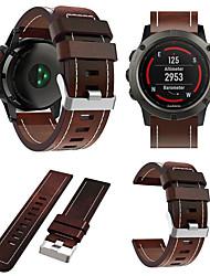 Недорогие -Ремешок для часов для Fenix 5x / Fenix 3 HR / Fenix 3 Garmin Спортивный ремешок / Кожаный ремешок Кожа Повязка на запястье