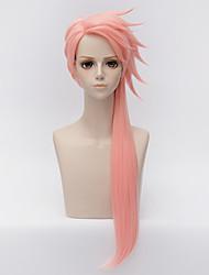 abordables -Perruques de cosplay / Perruque Synthétique Droit Rose Coupe Dégradée Cheveux Synthétiques 32 pouce Animé / Cosplay Rose Perruque Homme / Femme Long Sans bonnet Rose + Rouge