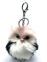 baratos -Coruja Animais de Pelúcia Porta-Chaves Adorável Lã artificial Para Meninas Brinquedos Dom 1 pcs