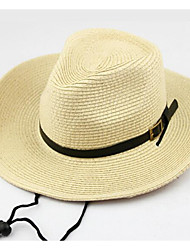 Недорогие -Муж. Соломенная шляпа Полиэстер, Однотонный