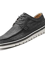 abordables -Homme Chaussures de confort Polyuréthane Automne Décontracté Oxfords Preuve de l'usure Noir / Gris / Marron