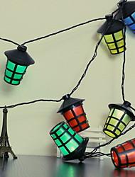 abordables -2,5 m Guirlandes Lumineuses 10 LED Plusieurs Couleurs Design nouveau / Décorative / Cool Piles AA alimentées