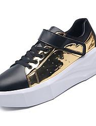 abordables -Homme Chaussures de confort Polyuréthane Automne Décontracté Basket Augmenter la hauteur Couleur Pleine Or / Argent / Noir / blanc