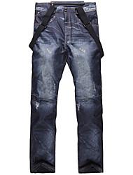 Недорогие -Муж. Лыжные брюки С защитой от ветра, Водонепроницаемость, Теплый Катание на лыжах / Пешеходный туризм Хлопок, Экологичность Полиэстер Снегурочка Одежда для катания на лыжах