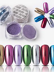 baratos -1 pcs Pó Solto Melhor qualidade Criativo arte de unha Manicure e pedicure Diário Estiloso / Colorido