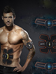 cheap -Abs Stimulator / Abdominal Toning Belt / EMS Abs Trainer With 4 pcs PU(Polyurethane) Electronic, Muscle Toner, Wireless Muscle Toning, Tummy Fat Burner, Build Muscle, Tone & Tighten For Exercise