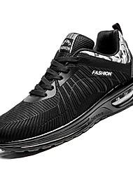 abordables -Homme Chaussures de confort Maille / Polyuréthane Automne Sportif Chaussures d'Athlétisme Course à Pied Ne glisse pas Couleur Pleine Noir / Noir / Rouge