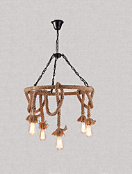 cheap -6-Light Circular Chandelier Ambient Light 110-120V / 220-240V Bulb Not Included