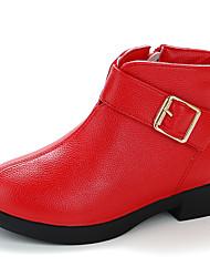 Недорогие -Девочки Обувь Полиуретан Наступила зима Ботильоны Ботинки для Дети Желтый / Розовый / Темно-красный
