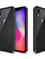 baratos -Capinha Para Apple iPhone XR / iPhone XS Max Antichoque / Translúcido Capa traseira Sólido Rígida Acrílico para iPhone XS / iPhone XR / iPhone XS Max