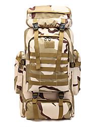 Недорогие -60 L Рюкзаки / Заплечный рюкзак - Дожденепроницаемый, Пригодно для носки, Воздухопроницаемость На открытом воздухе Пешеходный туризм, Армия, Путешествия Оксфорд Серый, Камуфляжный, Хаки
