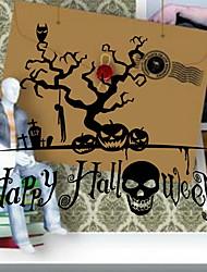 Недорогие -Оконная пленка и наклейки Украшение Хэллоуин Простой ПВХ Стикер на окна