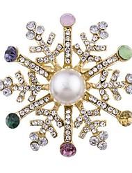preiswerte -Damen Klassisch Broschen - Schneeflocke Klassisch Brosche Gold Für Weihnachten