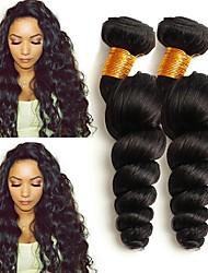 voordelige -4 bundels Mongools haar Los golvend 8A Echt haar Menselijk haar weeft Verlenging Bundle Hair 8-28 inch(es) Natuurlijke Kleur Menselijk haar weeft Dames uitbreiding Beste kwaliteit Extensions van echt