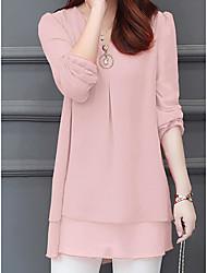 preiswerte -Damen Solide - Street Schick Bluse, V-Ausschnitt