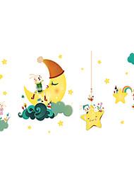 Недорогие -Декоративные наклейки на стены - Простые наклейки / Наклейки для животных Животные / Звезды Гостиная / Детская