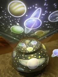 billiga -1st Sky Projector NightLight / Nursery Night Light Vit / Röd / Blå AA Batterier Drivs / USB För Barn / Uppladdningsbar / Bimbar Batteri