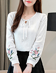 baratos -Mulheres Camiseta - Para Noite Floral