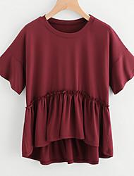 olcso -női póló - egyszínű, kerek nyakú