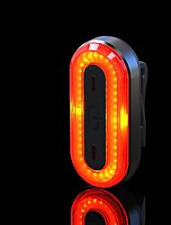 abordables -Imperméable / Lampe Arrière de Vélo / ECLAIRAGE ARRIERE LED Eclairage de Velo LED Cyclisme Imperméable, Portable, Professionnel Lithium-ion polymère 50 lm Rechargeable Rouge Camping / Randonnée