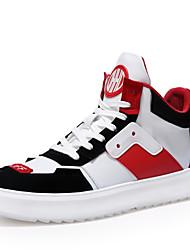 Недорогие -Муж. Комфортная обувь Свиная кожа Осень На каждый день Кеды Серый / Черный / Красный
