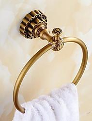 abordables -Crochet à Peignoir Design nouveau Antique Acier inoxydable / fer 1pc anneau de serviette Montage mural