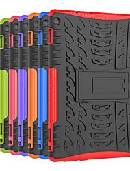 Недорогие -Кейс для Назначение Huawei MediaPad M3 Lite 10 Защита от удара / со стендом Кейс на заднюю панель Плитка / броня Твердый ПК для Huawei MediaPad M3 Lite 10
