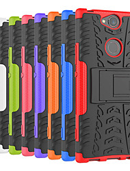 Недорогие -Кейс для Назначение Sony Xperia XA2 Ultra / Xperia XZ2 Premium Защита от удара / со стендом Кейс на заднюю панель Плитка / броня Твердый ПК для Sony XA2 Plus / Xperia XZ2 / Xperia XZ2 Compact