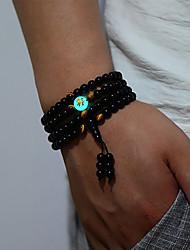 cheap -Men's Beads Bracelet Bangles / Strand Bracelet / Wrap Bracelet - Dragon, Buddha Ethnic Bracelet Black For Daily
