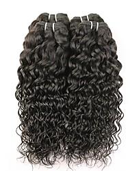 Недорогие -4 Связки Бразильские волосы Волнистые 8A Натуральные волосы Человека ткет Волосы Пучок волос One Pack Solution 8-28 дюймовый Естественный цвет Ткет человеческих волос Удлинитель Лучшее качество новый