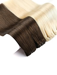cheap -Neitsi Clip In / On Human Hair Extensions Straight Dark Brown Natural Color Human Hair Extensions Remy Human Hair Other 1pc / pack Odor Free / Women / Extention Women's