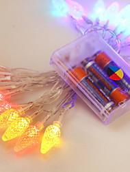 abordables -1.2m Guirlandes Lumineuses 10 LED Plusieurs Couleurs Décorative / Adorable Batteries alimentées 1 set