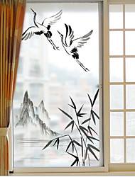 Недорогие -Оконная пленка и наклейки Украшение Художественные / Ретро / Классика Классика ПВХ Стикер на двери