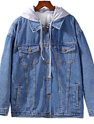 abordables -veste femme - bloc de couleur à capuche